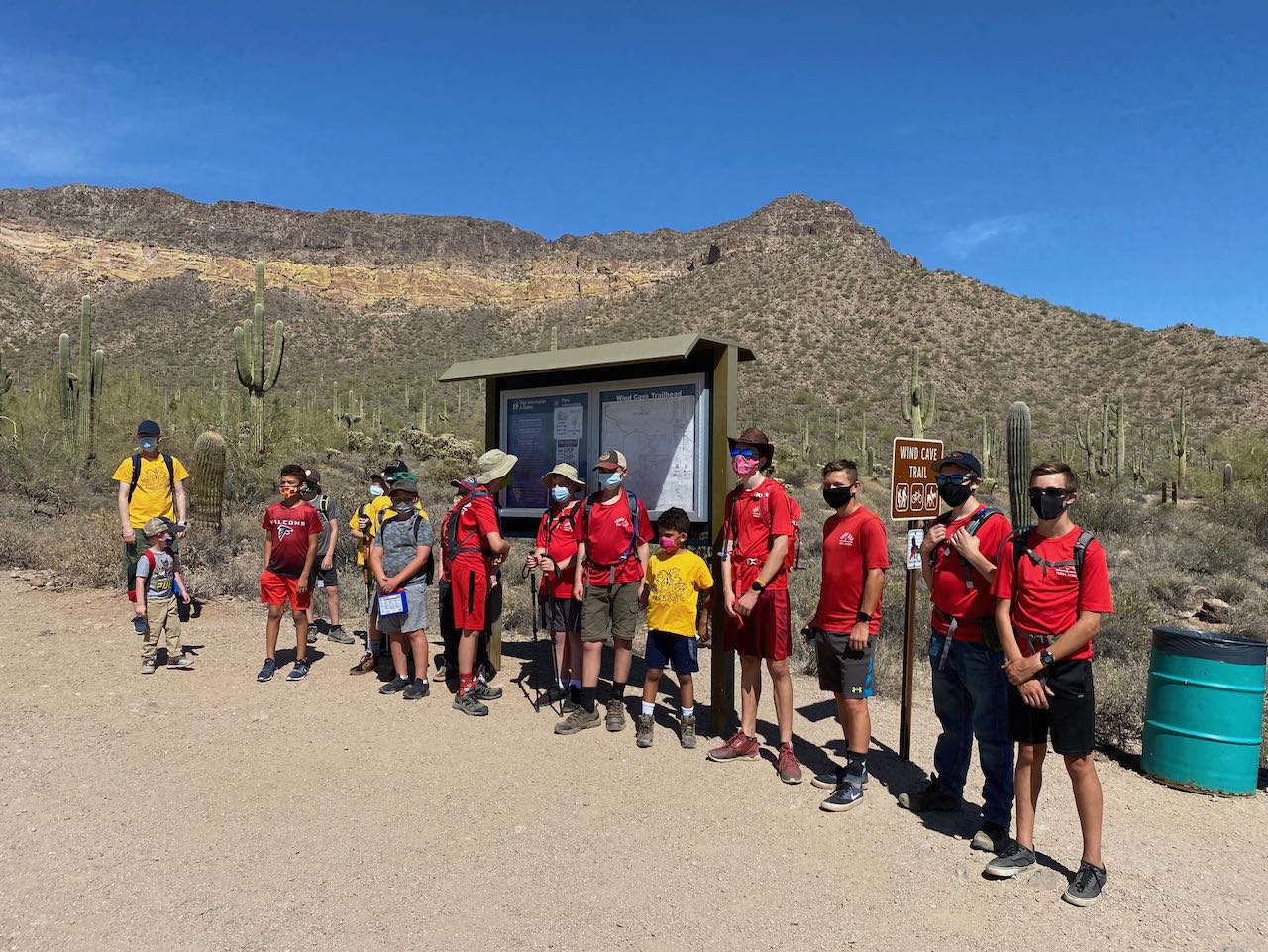 Scouts ready to hike