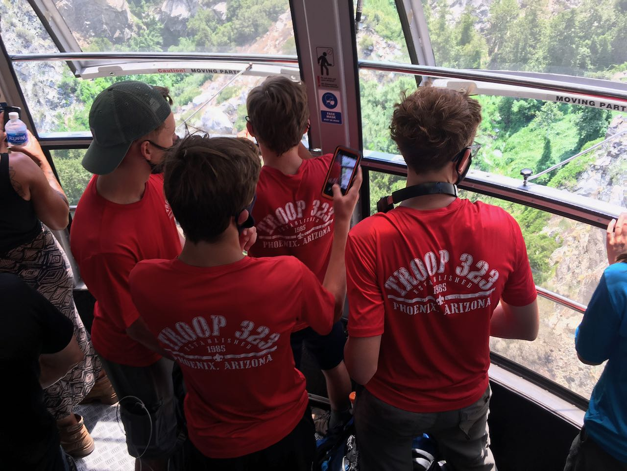 Scouts on the tram
