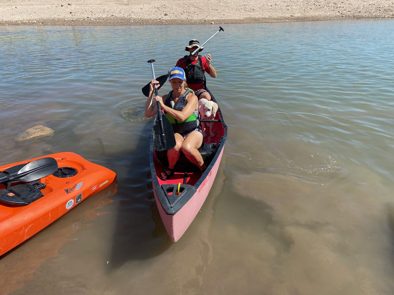 Scout Masters in Canoe